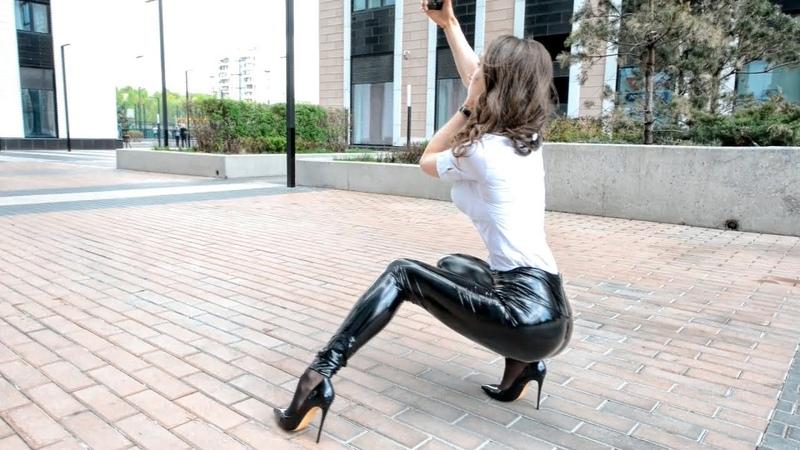 Vinyl legginse. leather leggings. PVC, latex