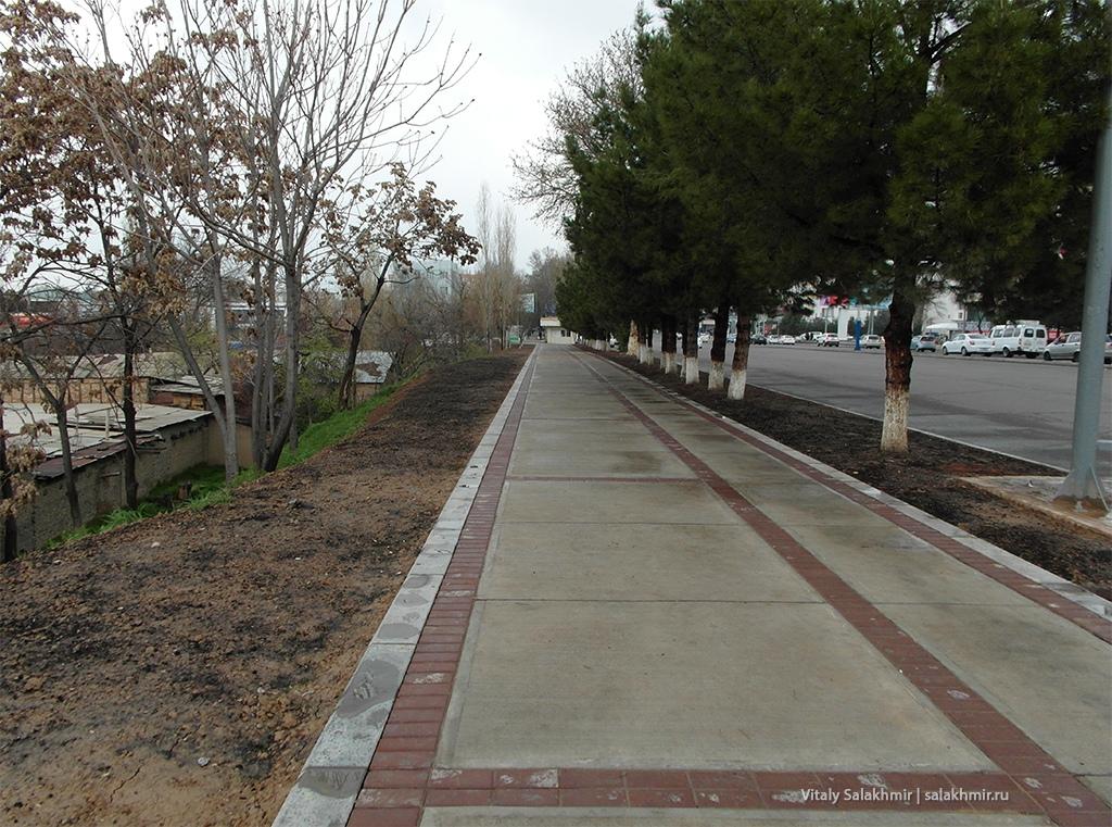 Тротуар в Ташкенте, 2019