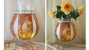 DIY Flower Glass Vase - Decoupage On glass Tutorial