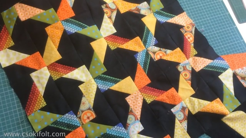 HAPPY JELLY ROLL -- Patchwork Template tutorial by Csoki-Folt