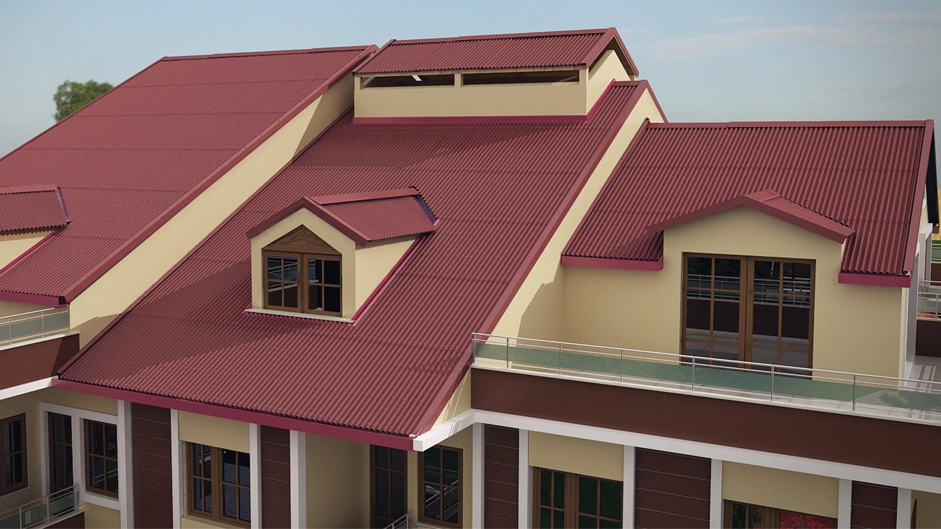 Облицовка крыши обязательное условие при строительстве домов.