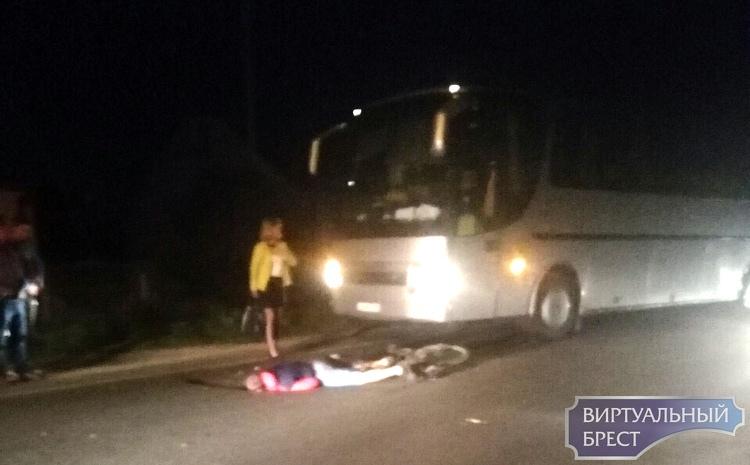 В Бресте под колеса польского автобуса попал нетрезвый белорусский велосипедист