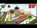 Minecraft Building a City 17b - City Hall and Library and More!