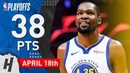 Kevin Durant Full Game 3 Highlights vs Clippers 2019 NBA Playoffs - 38 Points in 3 Qtrs!