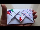 DIY Pull Tab Origami Envelope Card Letter Folding Origami birthday Card Greeting Card