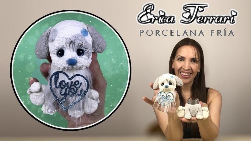 🐶 Erica Ferrari Porcelana Fría Cachorro Modelado Frasco Decorado Clase Gratis DIY Tutorial