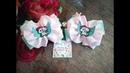 Резинки бантики единорог канзаши МК ,Бантики из лентDIY ribbons bows