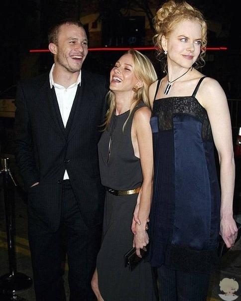 """Наоми Уоттс, Хит Леджер и Николь Кидман на премьере фильма """"Звонок"""" в октябре 2002 года"""