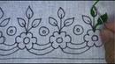 Hand embroidery border line design | latest border design