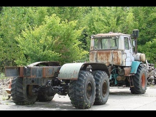 Забрал ржавый Т -150 с металлолома и сделал длинный грузовик трактор для перевозки труб