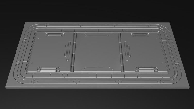 Sci-fi Floor Cinema 4D hard surface modeling