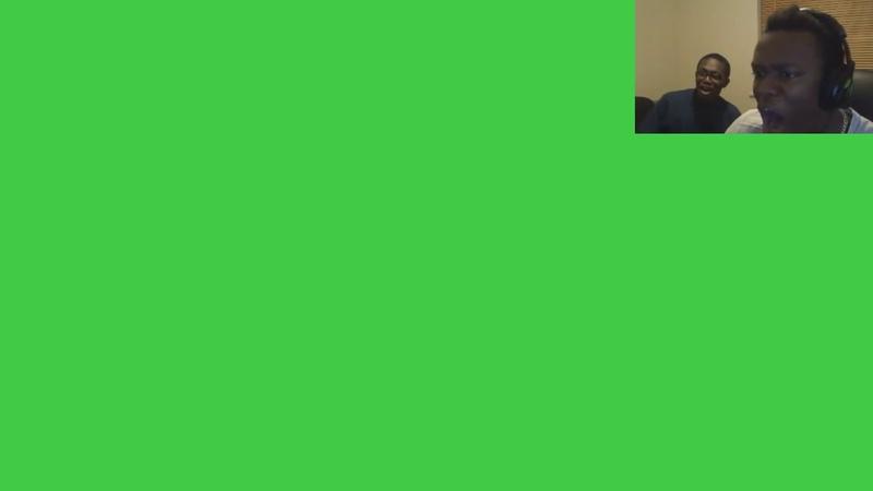 Ksi gets scared green screen
