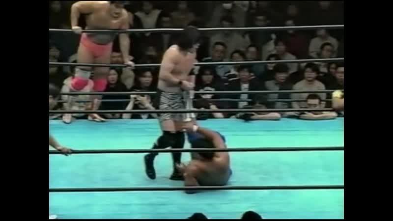 1999.02.13 - Kenta Kobashi/Jun Akiyama/Kentaro Shiga vs. Akira Taue/Masanobu Fuchi/Masao Inoue [JIP]