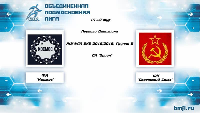 14-ый тур Первого Дивизиона ЖМФЛЛ 5Х5 2018/2019. Группа Б Космос — Советский Союз