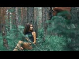 Sexy Girls Horse Riding on Forest