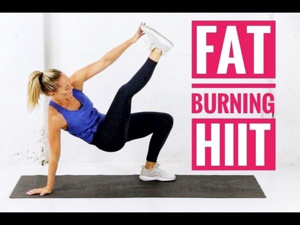 Heather Robertson - Fat Burning HIIT Workout No Equipment   Интервальная кардио-тренировка без инвентаря