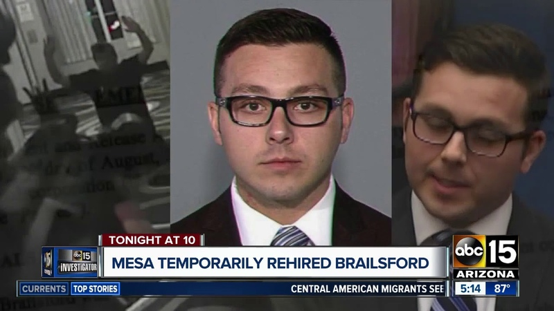 Brailsford temporarily rehired by Mesa PD