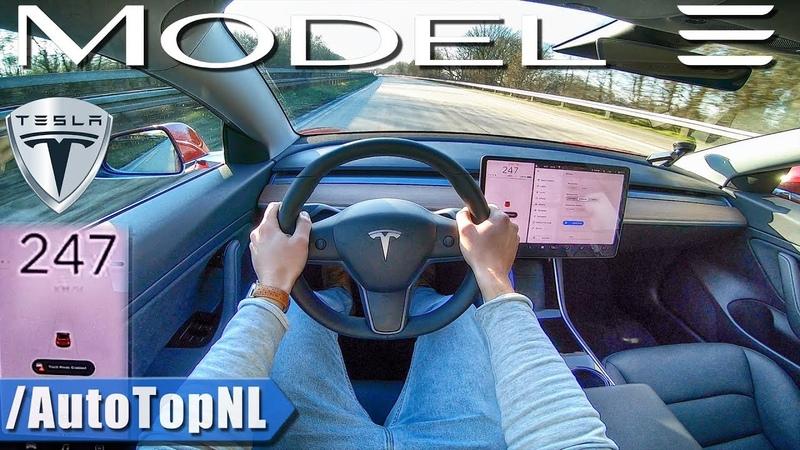 TESLA Model 3 PERFORMANCE 247kmh AUTOBAHN POV by AutoTopNL