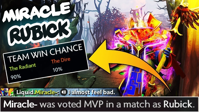 Miracle- MVP GOD Rubick with $1,000 Immortal Golden Staff - Master of Rubick - EPIC Gameplay Dota 2