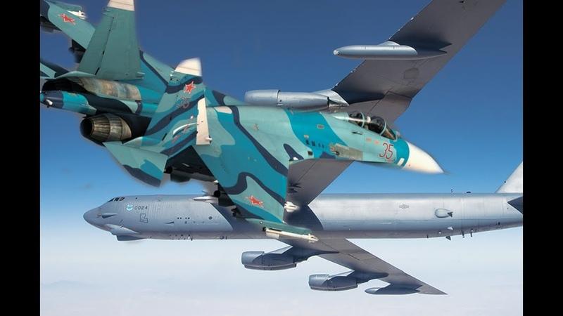 Вашингтон продолжает усиленно шевелить мускулами Су-27 отогнали самолет B-52H от границ России...