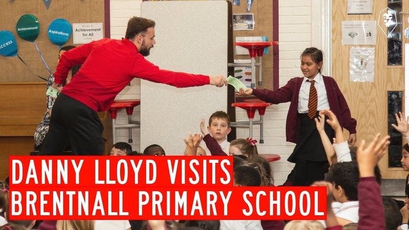 Danny Lloyd visits Brentnall Primary School in Salford for a Q A
