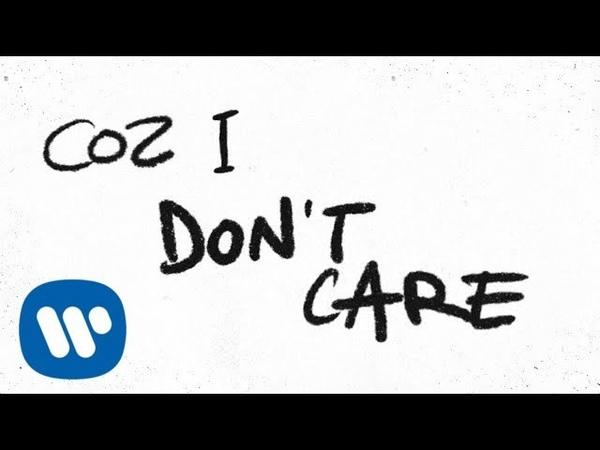 Ed Sheeran Justin Bieber - I dont care (Official lyric video)