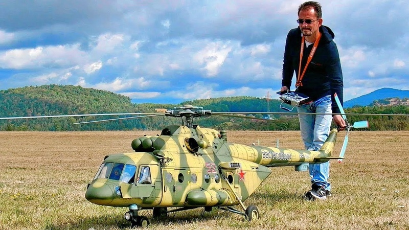STUNNING GIGANTIC XXXL Mil Mi-8 AMT RC TURBINE SCALE MODEL RUSSIAN HELICOPTER FLIGHT DEMONSTRATION