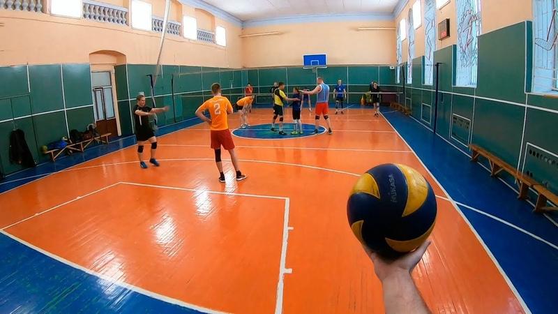 Волейбол от первого лица. Volleyball first person. 8 episode. Волейбольные тренировки.