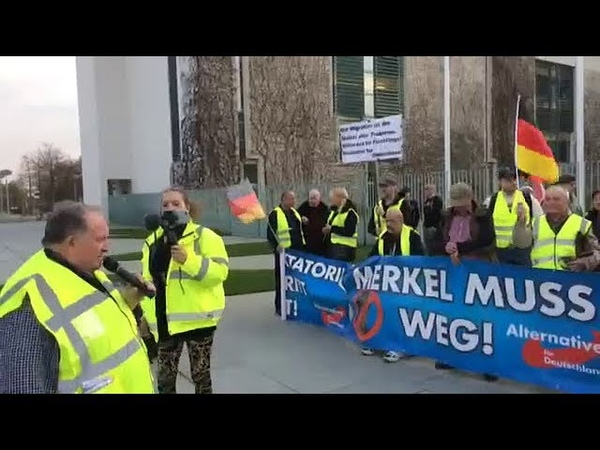107. AfD Demo Berlin Merkel MUSS weg mit Franz Wiese (AfD) 03.04. 2019