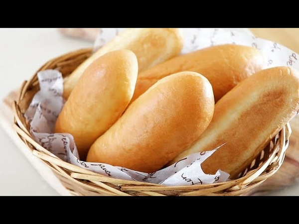 How to make an easy and fluffy hot dog buns Homemade Hot Dog Bread knead bread by hand 손반죽 핫도그번 만들기
