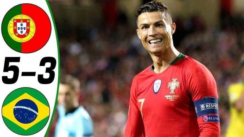 🔥 Португалия - Бразилия 5-3 - Обзор Товарищеского Матча 10/09/2013 HD 🔥