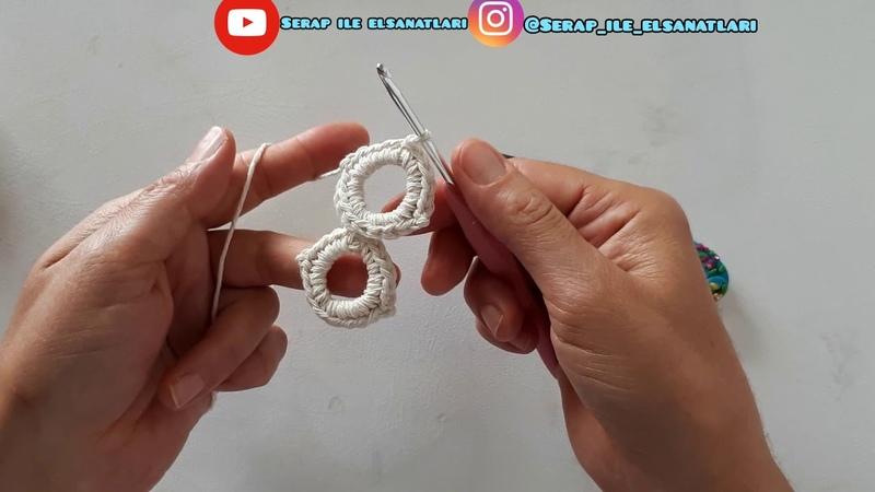 Çanta sapı kemer biye ne isterseniz ona kullanın hasır crochet easy pattern stitch tutorial