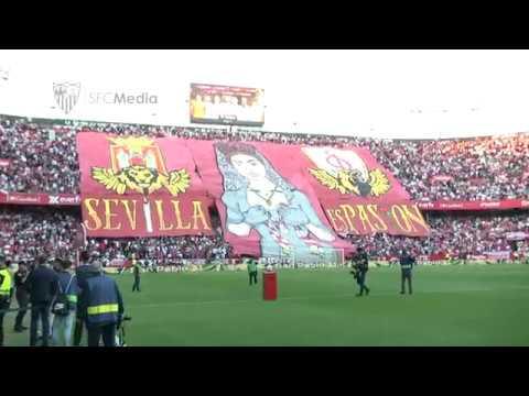 ¡¡¡Sevilla es pasión Otro tifo espectacular para El Gran Derbi