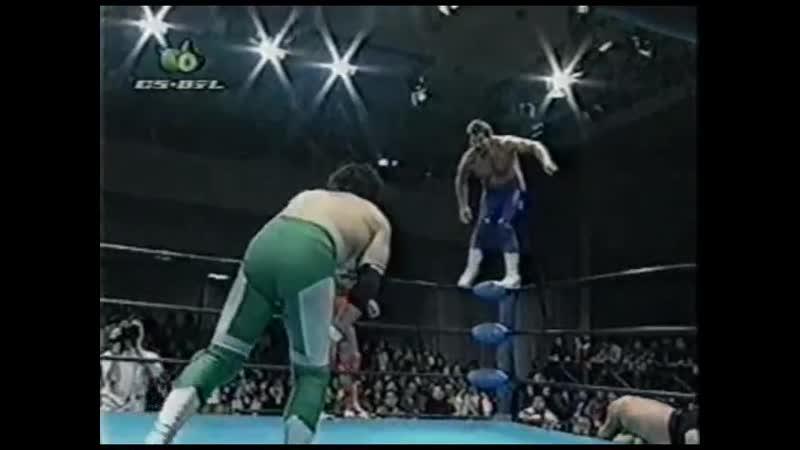 1998.02.14 - Johnny Ace/Johnny Smith/Kenta Kobashi vs. Jun Akiyama/Maunakea Mossman/Mitsuharu Misawa