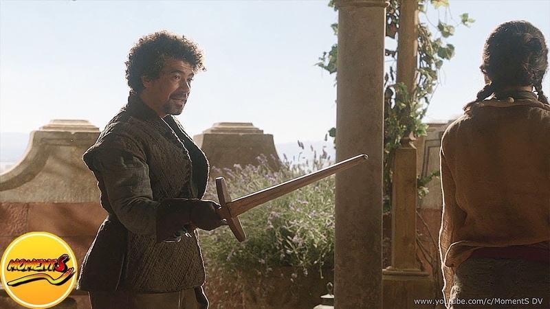 Сирио Форель обучает Арью Старк танцам.Сериал Игра престолов (1-й сезон-3-я серия)