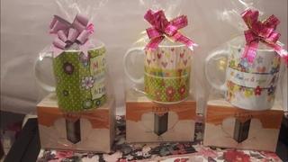 Kits para o dia das mães 20.00 😲😲😲😲com canecas e sabonetes Natura