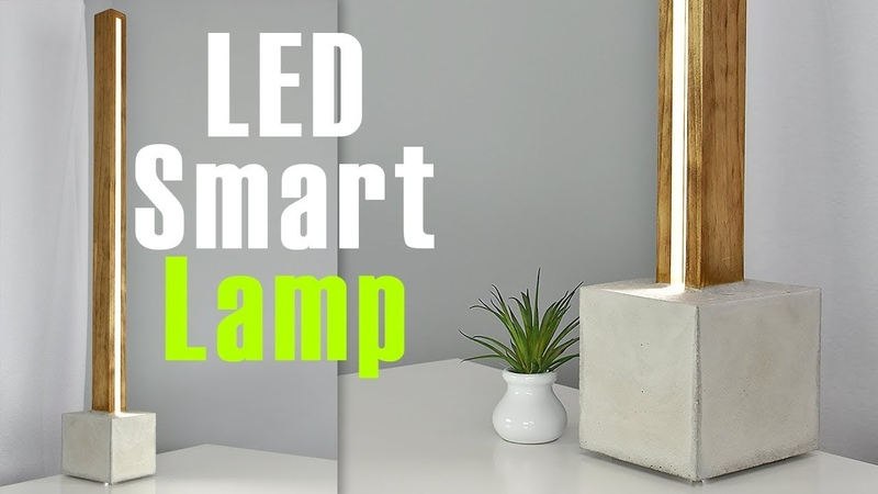 DIY LED Lamp with a CONCRETE base Controlled it with A Mobile App