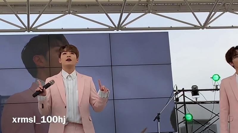 [FANCAM] 190428 백퍼센트(100%) - Stay with me (Hyukjin Focus) @ Meriken Park