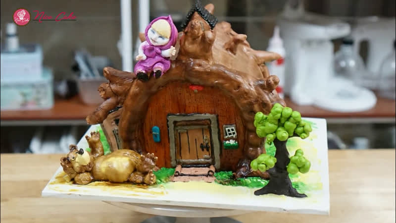 Украшение торта - Дом Маши и Медведя