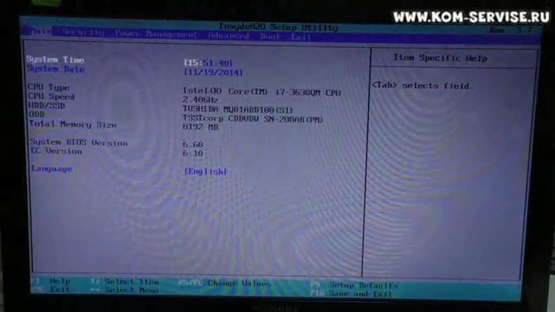Что делать если не загружается Windows 8 на ноутбуке Toshiba Check cable connection