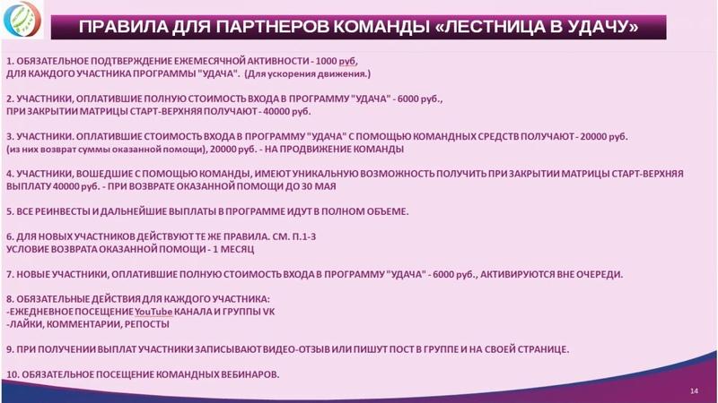 Планерка 13.05.2019- разбор продвижения Лестница в УДАЧУ