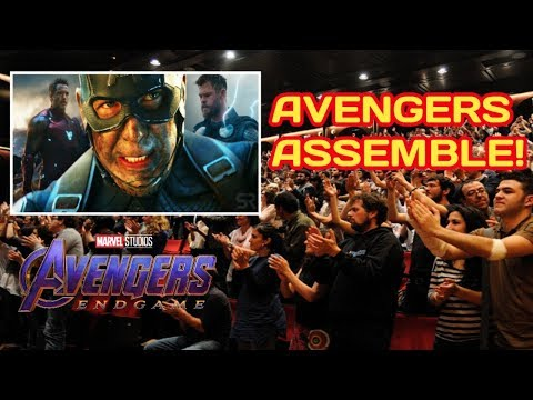AVENGERS ASSEMBLE! Epic IMAX Theater Reaction! - Avengers Endgame