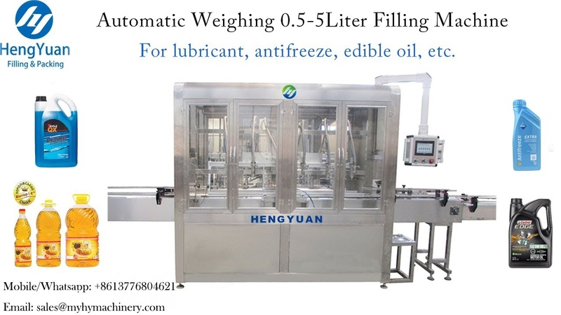 Automatic Weighing 0 5 5Liter Filler Capper for Lubricant Oil Bucket Filling Capping Machine Line