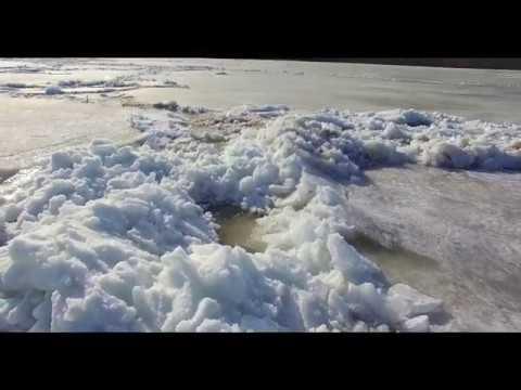 Начало ледохода д Кулманы р Обь 2019