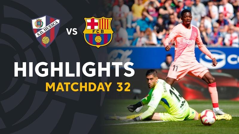 Highlights SD Huesca vs FC Barcelona (0-0)
