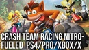 [4K] Crash Team Racing Nitro-Fueled: PS4/Pro vs Xbox One/X Tested PS1 Graphics Comparison!