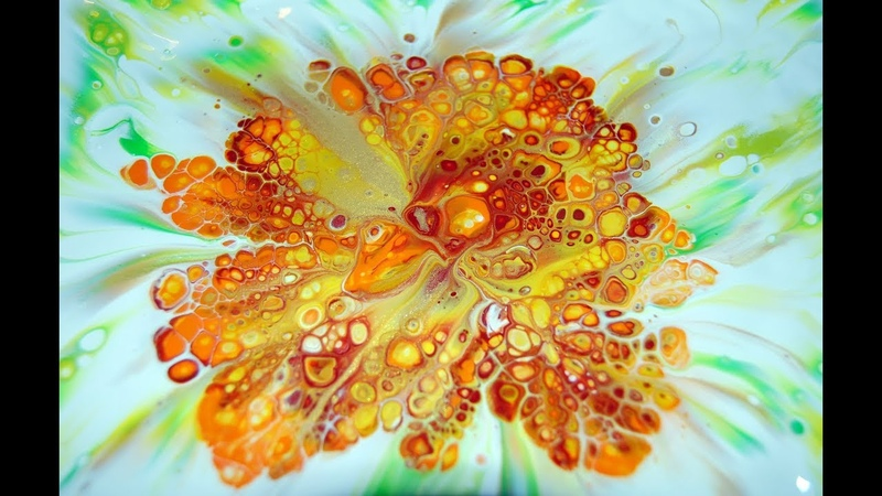 Reverse flower dip with paper towel