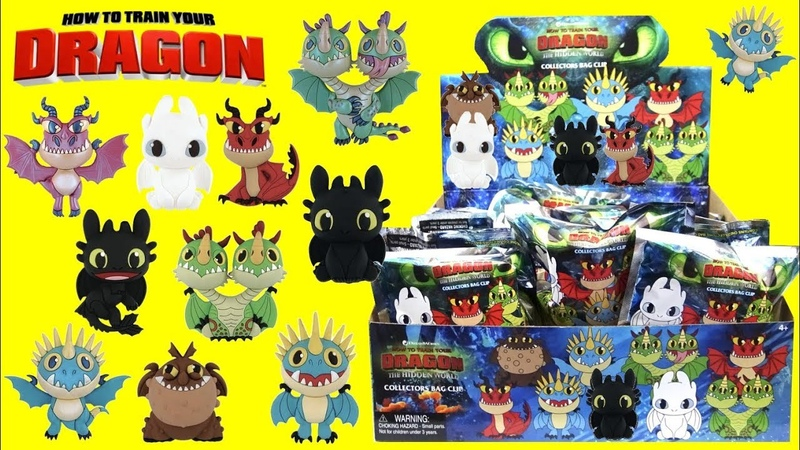 How To Train Your Dragon The Hidden World Collectors Keyring TOYS with Hiccup and Toothless