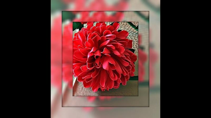 Бесплатный Мк ростового цветка ХРИЗАНТЕМА из фоамирана