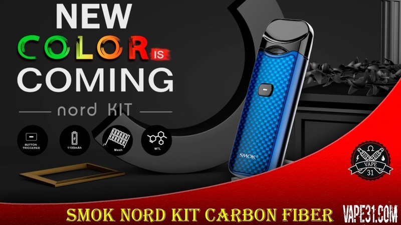 Pod Набор Smok Nord Kit Carbon Fiber Обзор